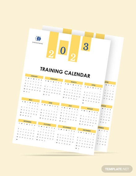 Blank Training Desk Calendar Template
