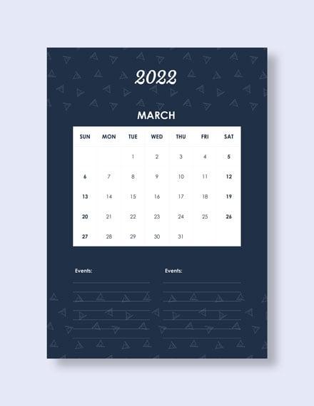 Daily Event Desk Calendar Download
