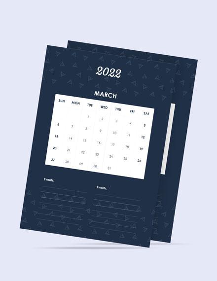 Daily Event Desk Calendar Template