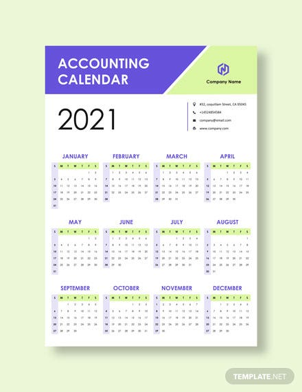Editable Accounting Desk Calendar Download