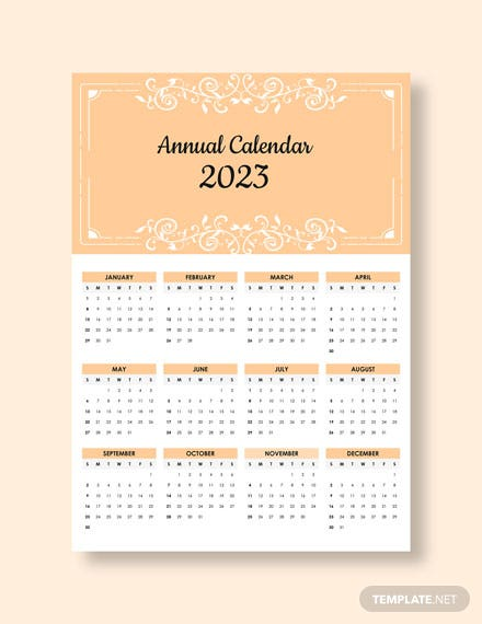 Editable Annual Desk  Calendar Download