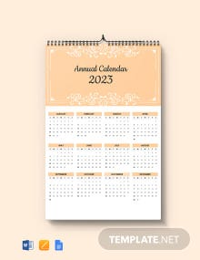 Free Editable Annual Desk Calendar Template