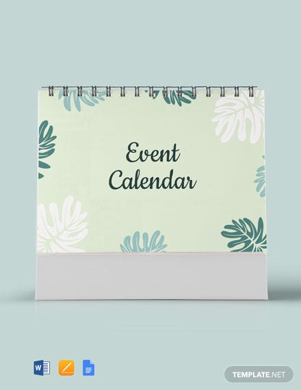 Free Event Desk Calendar Template