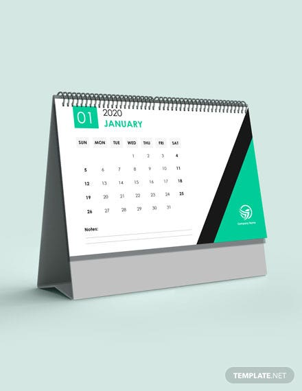 Financial Accounting Desk Calendar Template