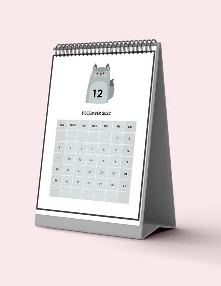 Holiday Event Desk Calendar Download