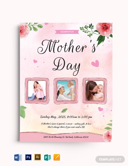 Free Mother's Day Celebration Flyer Template