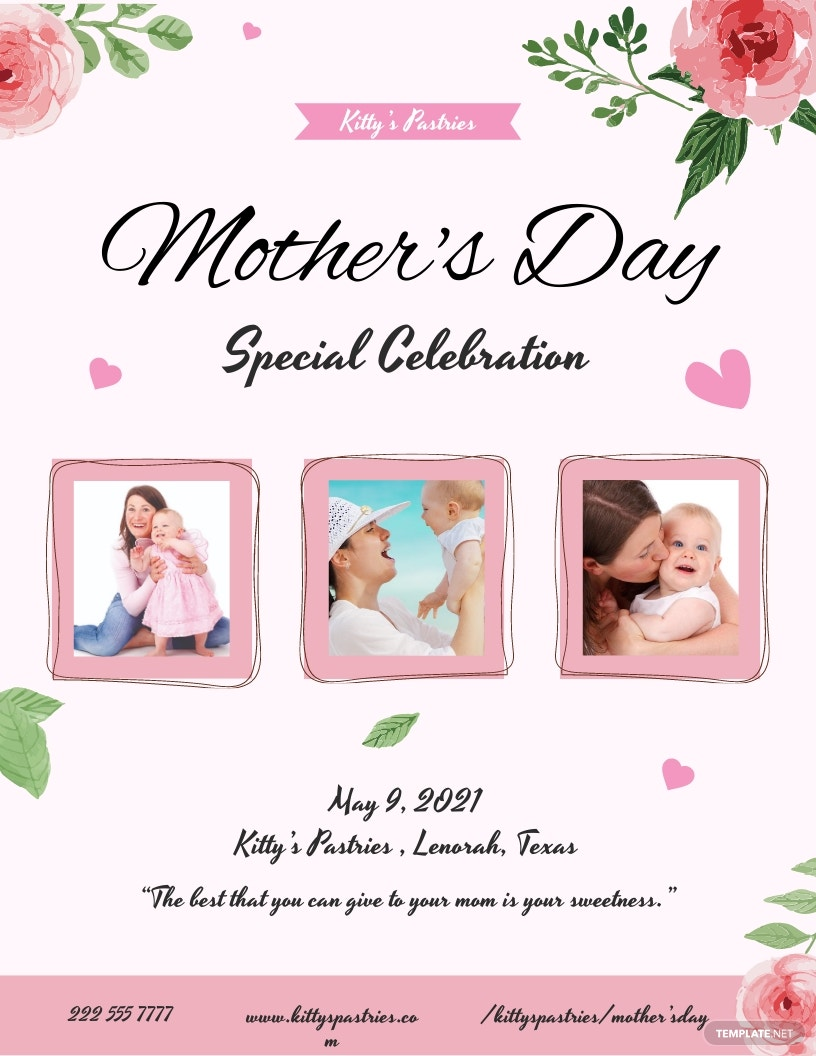 Mother's Day Celebration Flyer Template