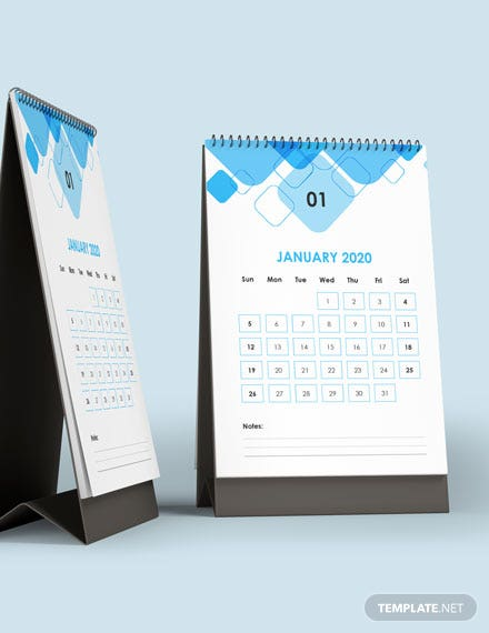 Monthly Accounting Desk Calendar Template