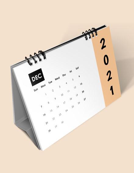 Monthly Event Desk Calendar Download