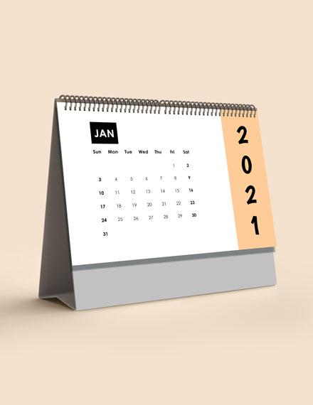 Monthly Event Desk Calendar Template