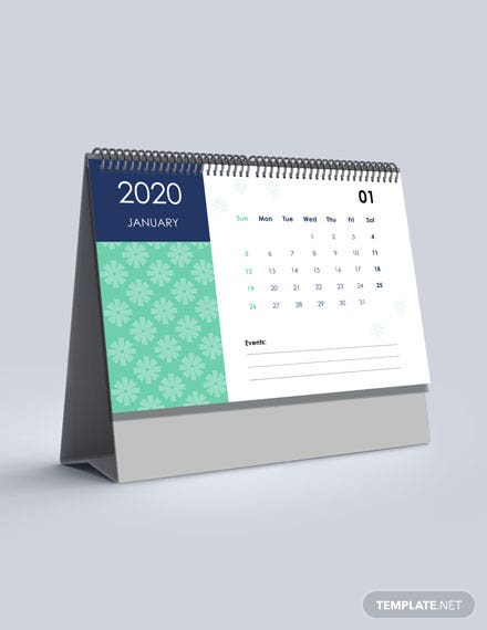 Printable Event Desk Calendar Template