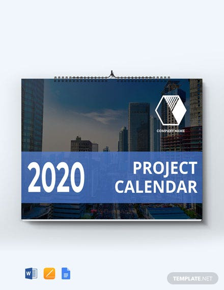 Free Printable Project Desk Calendar Template