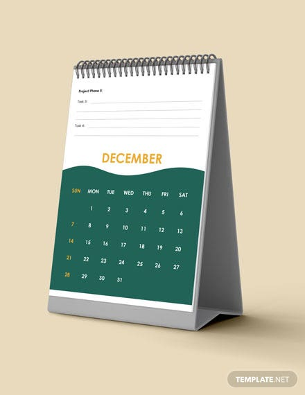 Project Accounting Desk Calendar Download