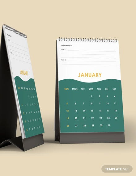 Project Accounting Desk Calendar Template