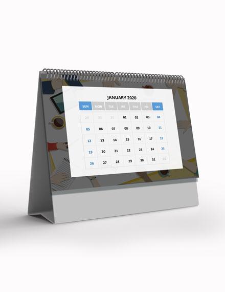 Project Desk Calendar Template