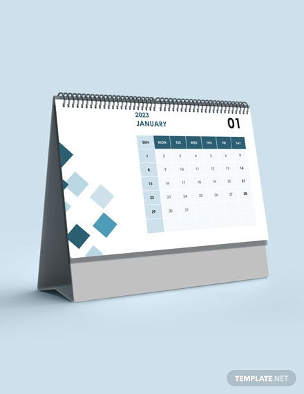Project Event Desk Calendar Template