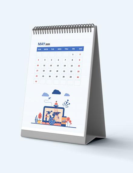 Project management Desk Calendar Download