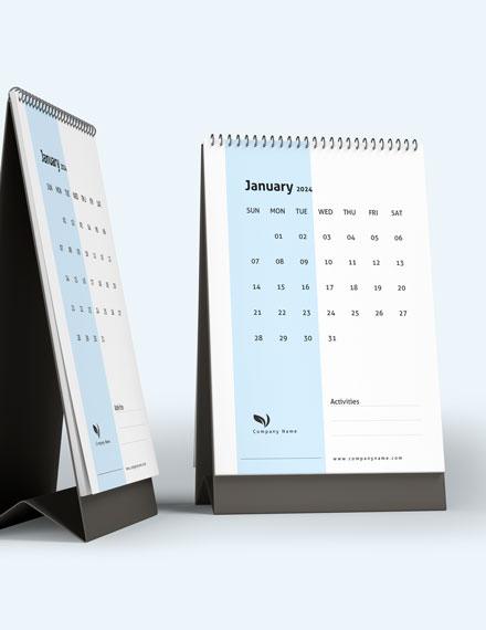 Project management Desk Calendar Template