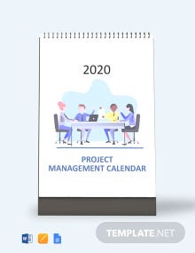 Free Project Management Desk Calendar Template