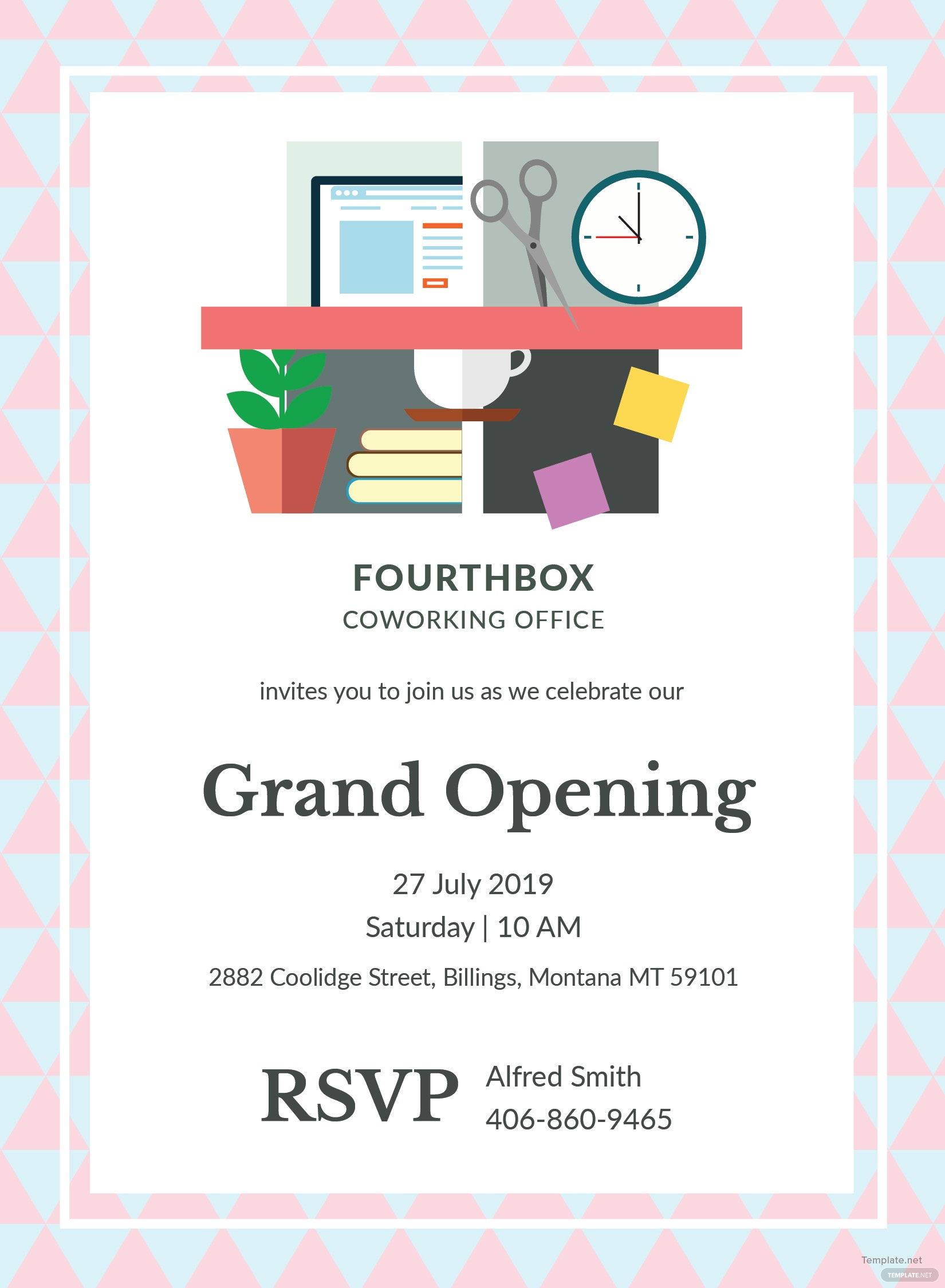 Office Opening Invitation Card Template in Adobe ...