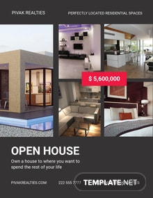 Free Simple Open House Flyer Template