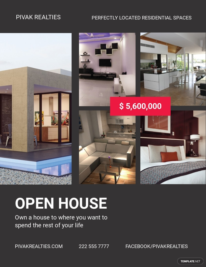 Simple Open House Flyer Template