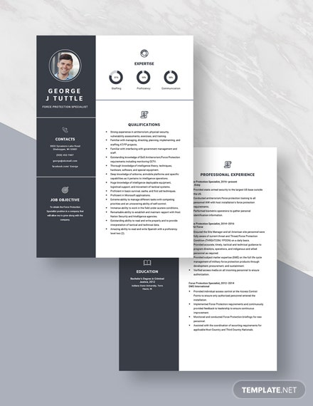 Force Protection Specialist Resume  Download