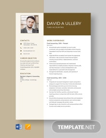 Fund Accounting Resume Template