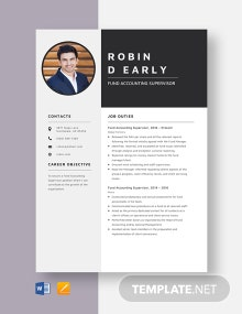 Fund Accounting Supervisor Resume Template