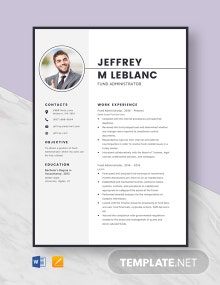 Fund Administrator Resume Template