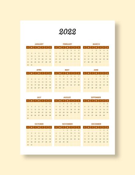 Restaurant Event Desk Calendar Download