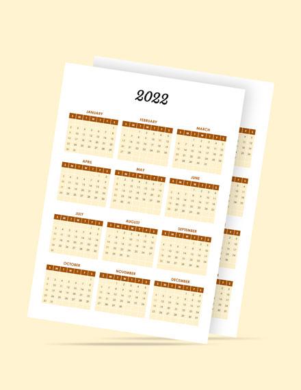 Restaurant Event Desk Calendar Template