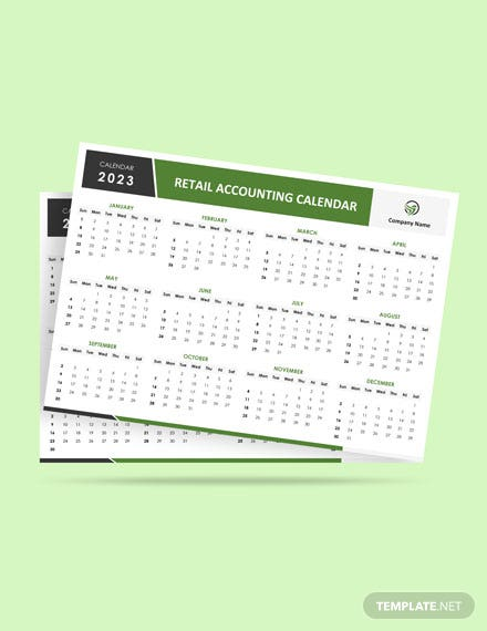 Retail Accounting Desk Calendar Template