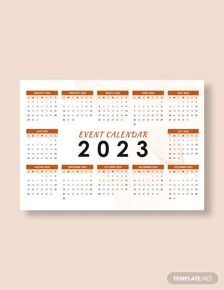 Sample Event Desk Calendar Download