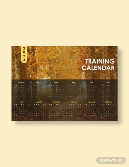 Sample Training Desk  Calendar Download