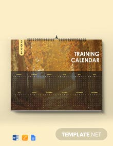 Free Sample Training Desk  Calendar Template