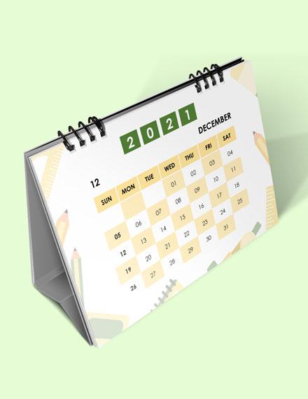 School Academic Desk  Calendar Download
