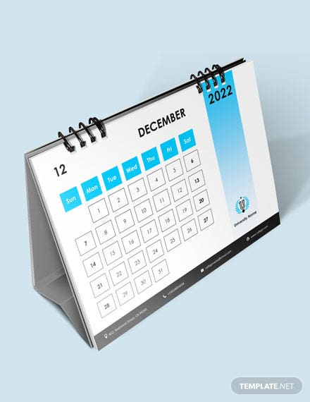 Semester Academic Desk Calendar Download