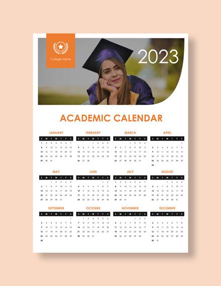 Simple academic Desk Calendar Download