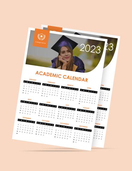 Simple academic Desk Calendar Template