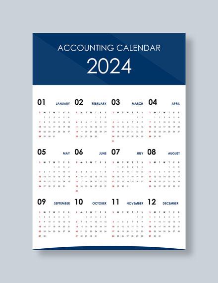 Simple Accounting Desk Calendar Download