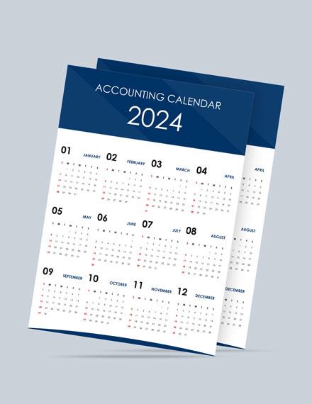 Simple Accounting Desk Calendar Template