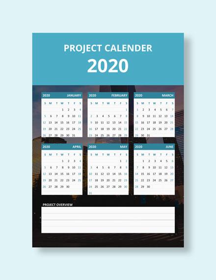Simple Project Desk Calendar Download