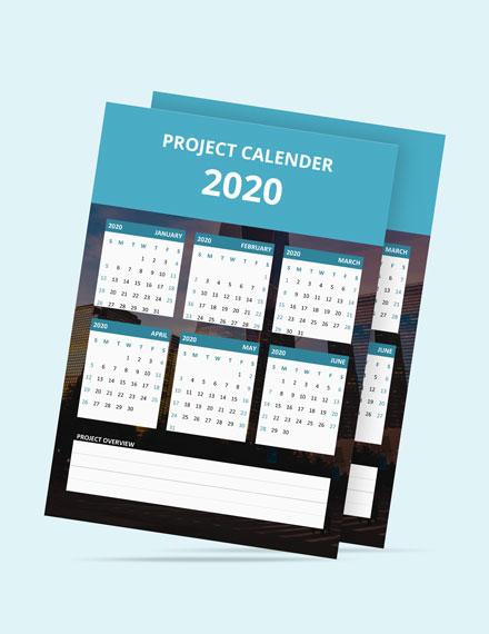 Simple Project Desk Calendar Template