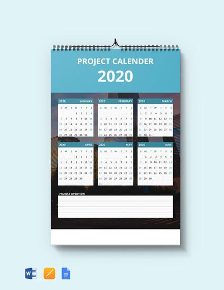 Simple Project Desk Calendar
