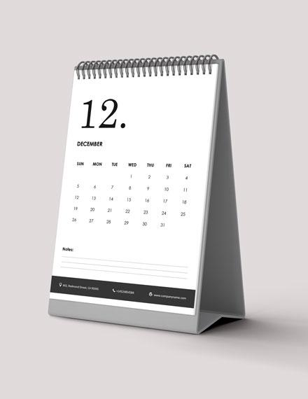 Staff Annual Desk Calendar Download