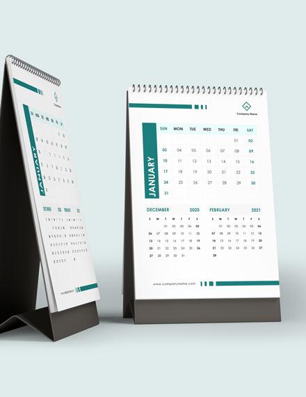 Staff Training Desk Calendar Template