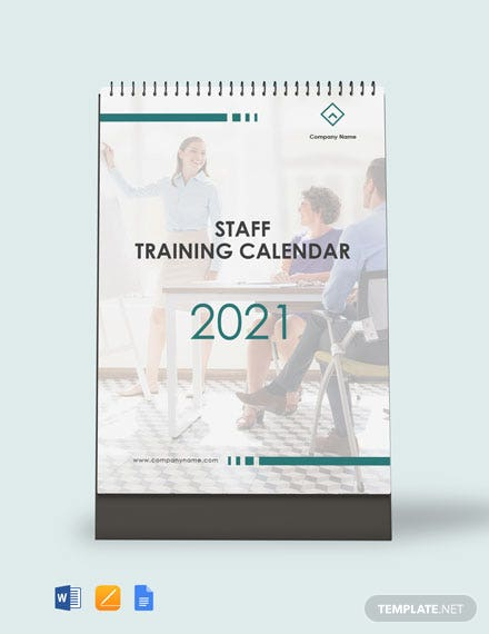 Free Staff Training Desk Calendar Template