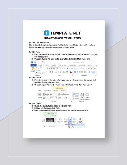Editable Calendar Instructions