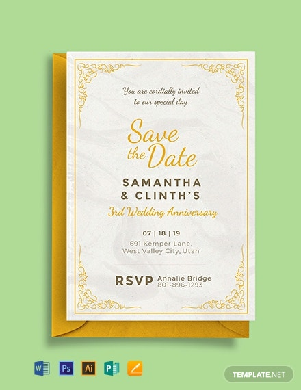 free anniversary invitation card template